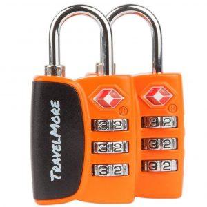 Candado para maleta naranja