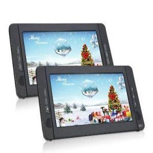 DVD portátil con dos pantallas