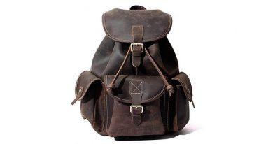 mochilas de cuero de viaje