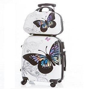 Maleta juvenil de mariposas