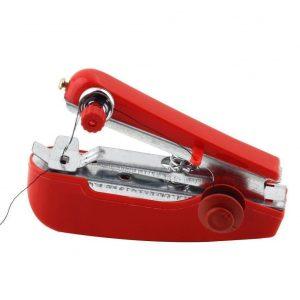 Máquina de coser de viaje roja