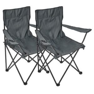 Pack sillas de camping con soporte para bebidas Noorsk