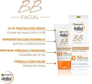 Protector solar facial con color
