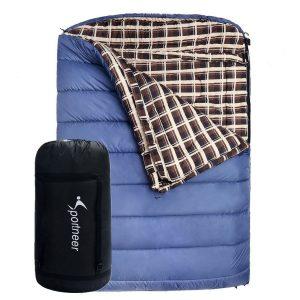 Saco de dormir doble acampada