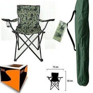 Silla de camping de camuflaje Sini